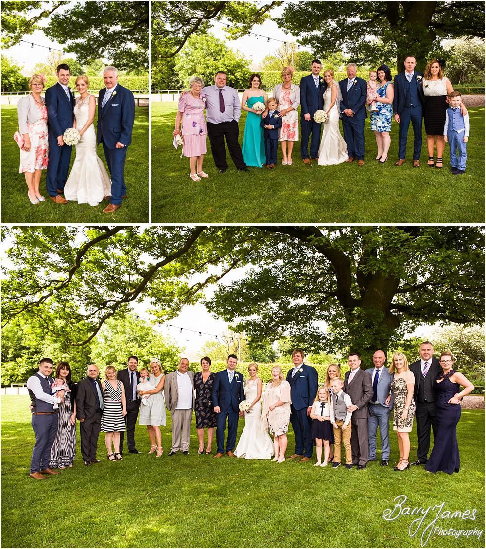 Relaxed family photos in the gardens at Oak Farm Hotel in Cannock by Cannock Wedding Photographers Barry James