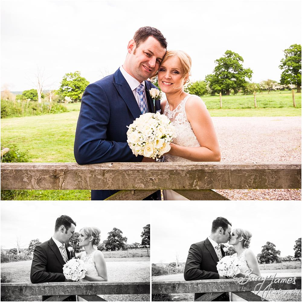 Creative portraits in the gardens at Oak Farm Hotel in Cannock by Cannock Wedding Photographers Barry James