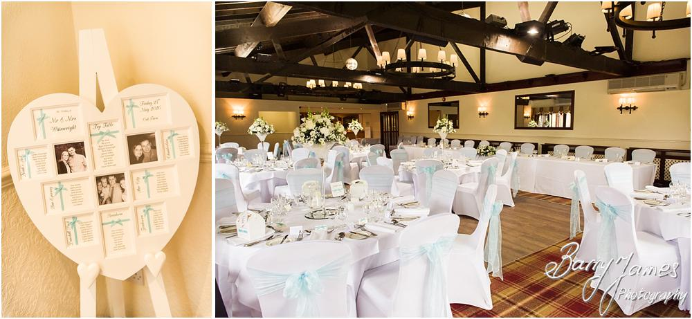 Gorgeous wedding breakfast dressing by Carabou at Oak Farm Hotel in Cannock by Cannock Wedding Photographers Barry James