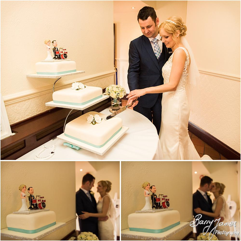 Fabulous wedding cake from Caroline Jeavons at Oak Farm Hotel in Cannock by Cannock Wedding Photographers Barry James