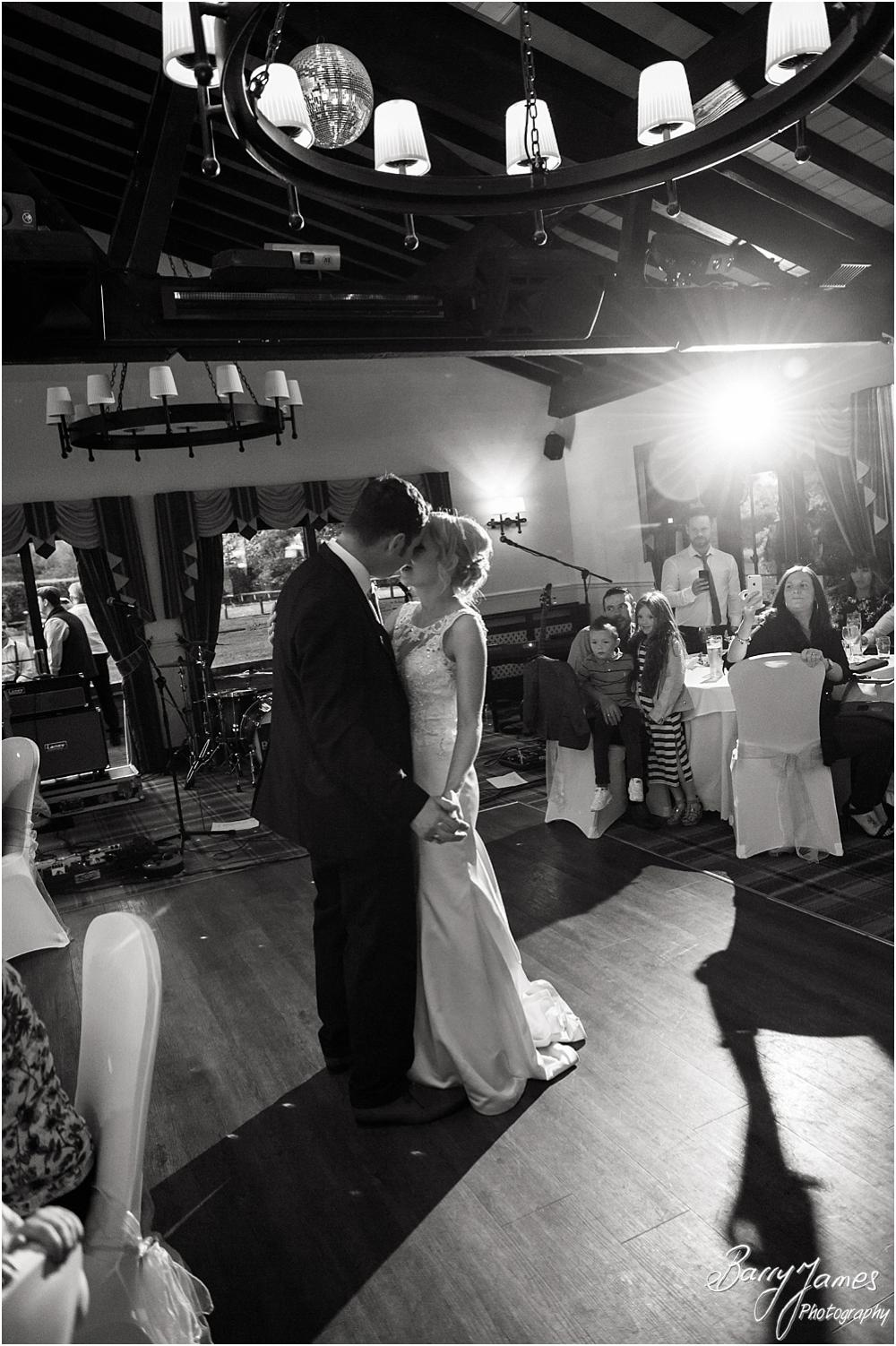 Stunning photographs of the bride and grooms first dance at Oak Farm Hotel in Cannock by Cannock Wedding Photographers Barry James