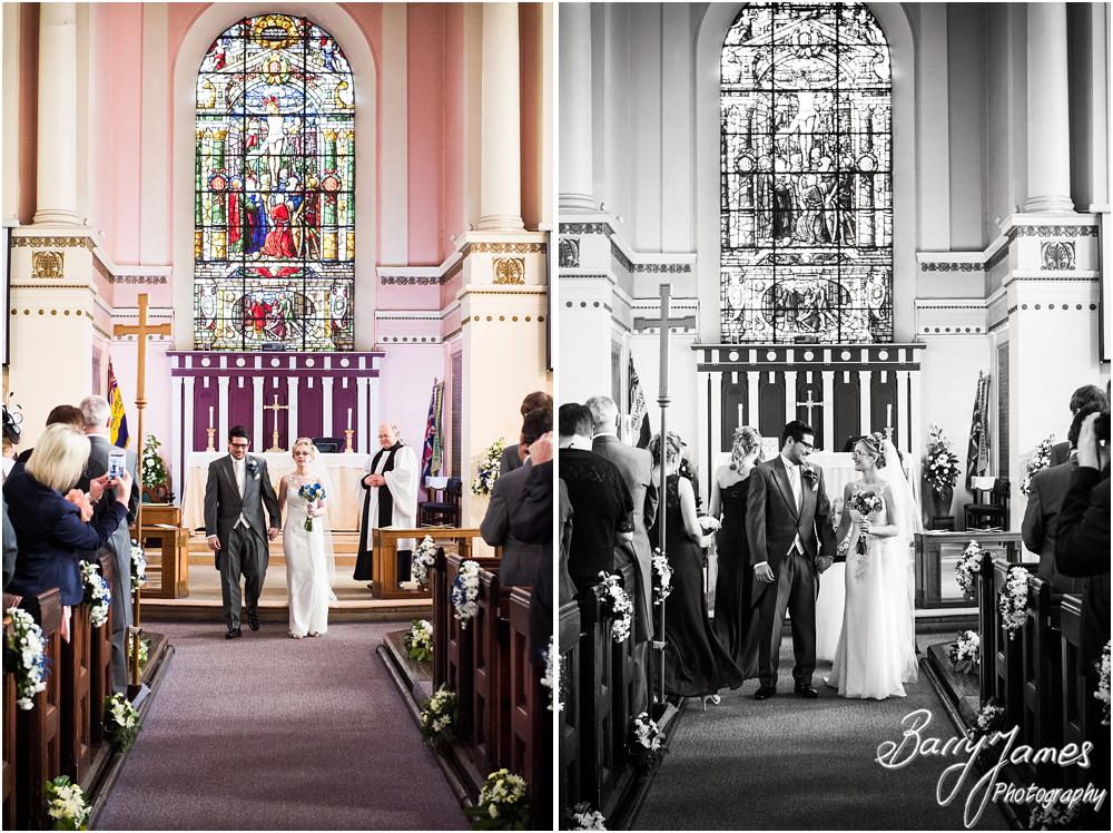 Unobtrusive photographs capturing the wedding story at St Leonards in Bilston by West Midlands Wedding Photographer Barry James
