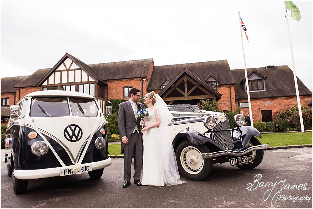 Beautiful photographs of the wedding cars at The Moat House in Acton Trussell by Acton Trussell Wedding Photographer Barry James