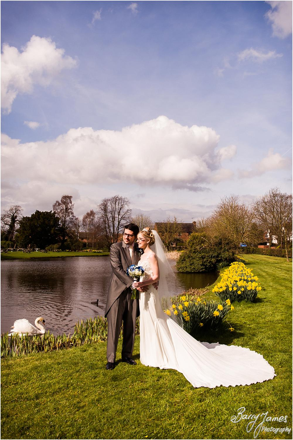 Beautiful spring portraits on the wedding day at The Moat House in Acton Trussell by Acton Trussell Wedding Photographer Barry James