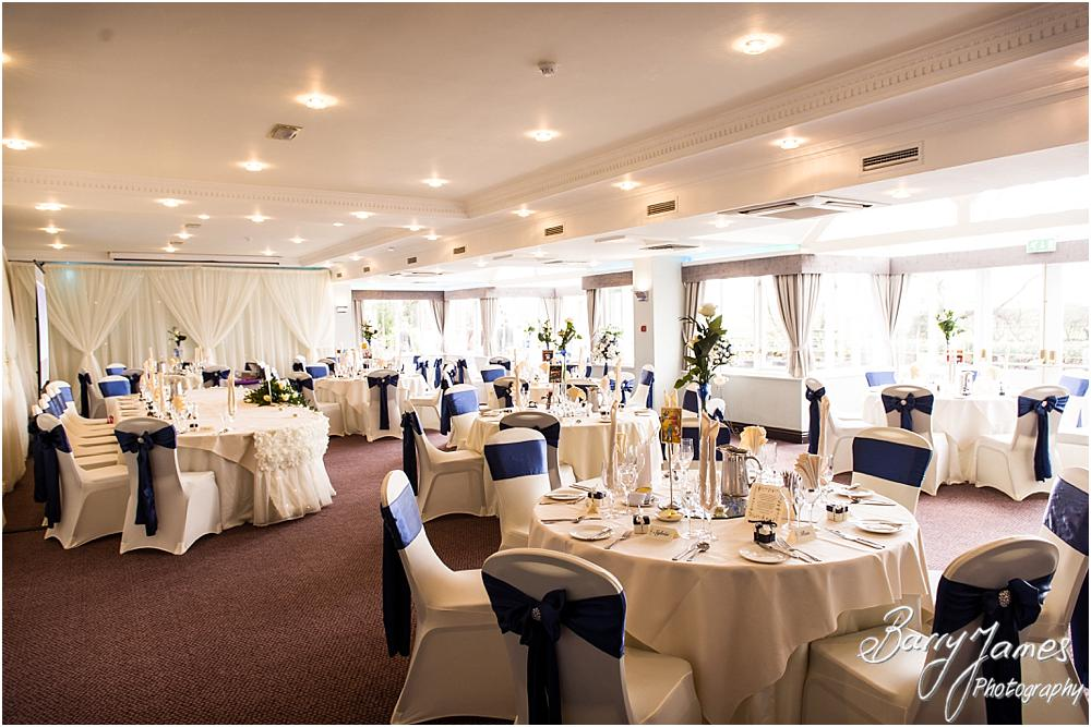 Stunning detailing for the wedding breakfast in the Acton Suite at The Moat House in Acton Trussell by Acton Trussell Wedding Photographer Barry James