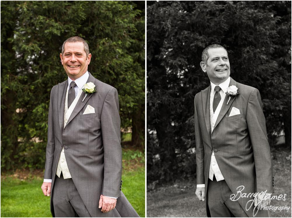 Relaxed contemporary portraits of the groomsmen at Calderfields in Walsall by Walsall Wedding Photographer Barry James
