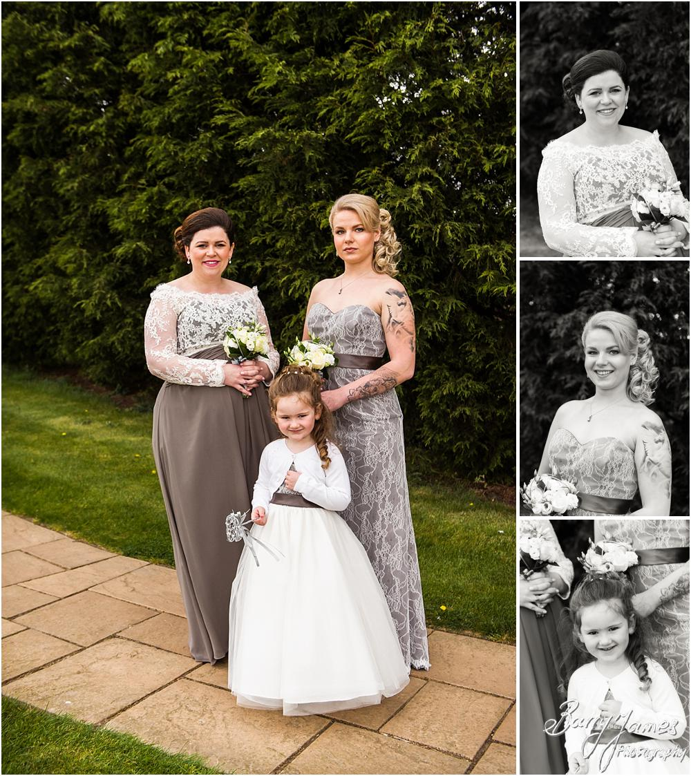 Relaxed contemporary portraits of the bridesmaids at Calderfields in Walsall by Walsall Wedding Photographer Barry James