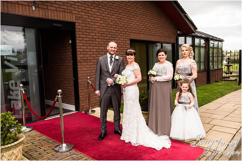 Contemporary portraits of the bridal party ahead of the ceremony at Calderfields in Walsall by Walsall Wedding Photographer Barry James