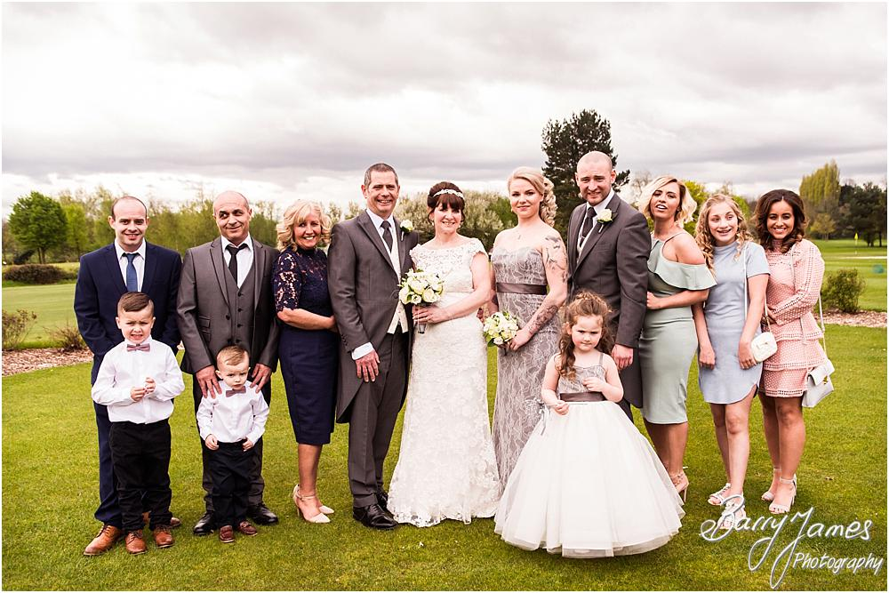 Relaxed formal group photographs on the lawns of Calderfields in Walsall by Calderfields Wedding Photographers Barry James