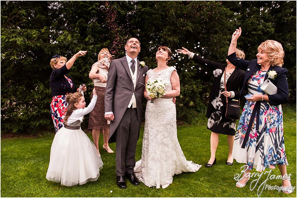 Confetti fun at Calderfields in Walsall by Calderfields Wedding Photographers Barry James