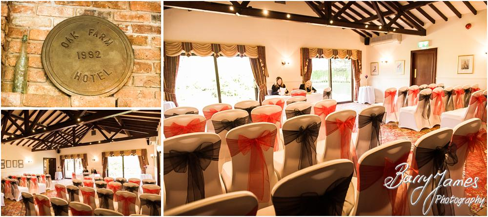 Beautiful wedding photographs at Oak Farm Hotel in Cannock Wedding Photographers Barry James