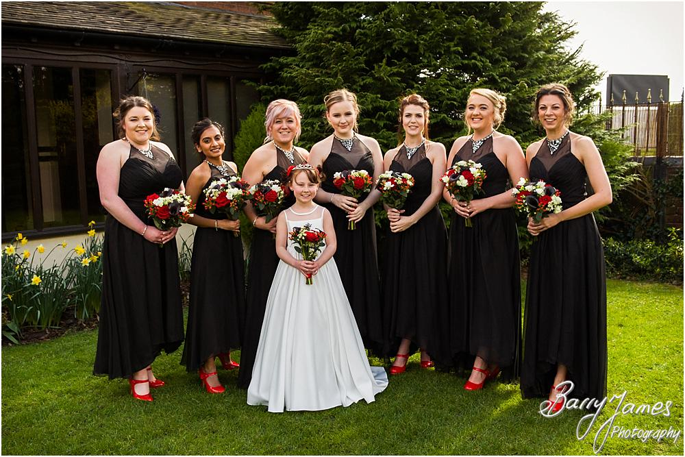 Photographing the beautiful bridal party at Oak Farm Hotel in Cannock Wedding Photographers Barry James