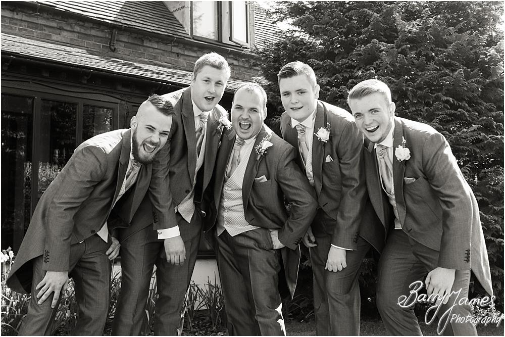 Creative photographs of the groomsmen at Oak Farm Hotel in Cannock by Contemporary Cannock Wedding Photographer Barry James
