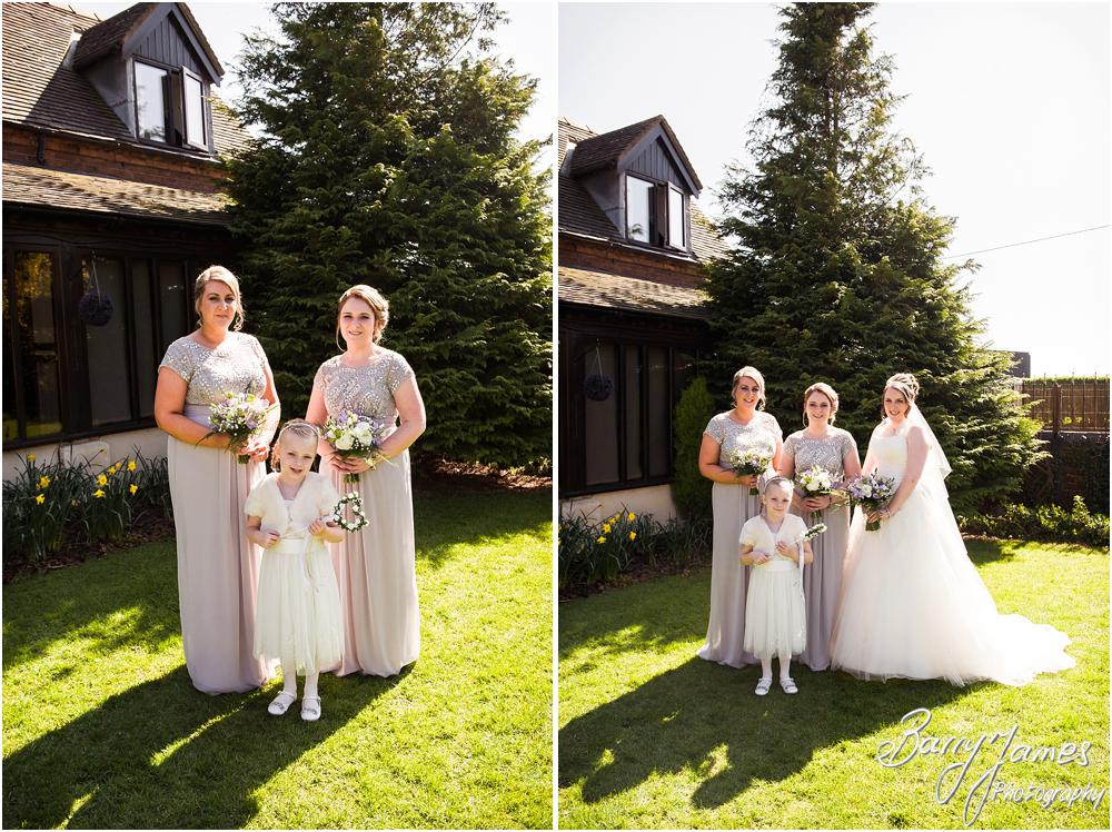 Contemporary portraits of the Bridal Party at Oak Farm Hotel in Cannock by Contemporary Cannock Wedding Photographer Barry James