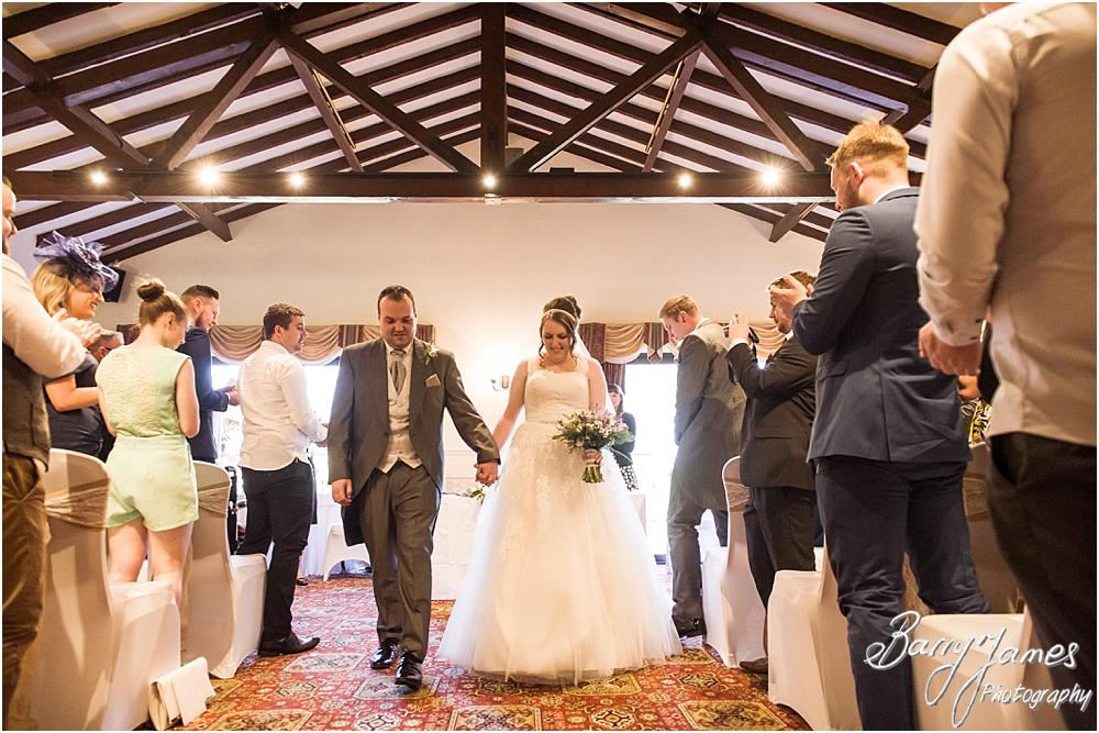 Unobtrusive photographs of the wedding ceremony at Oak Farm Hotel in Cannock by Contemporary Cannock Wedding Photographer Barry James