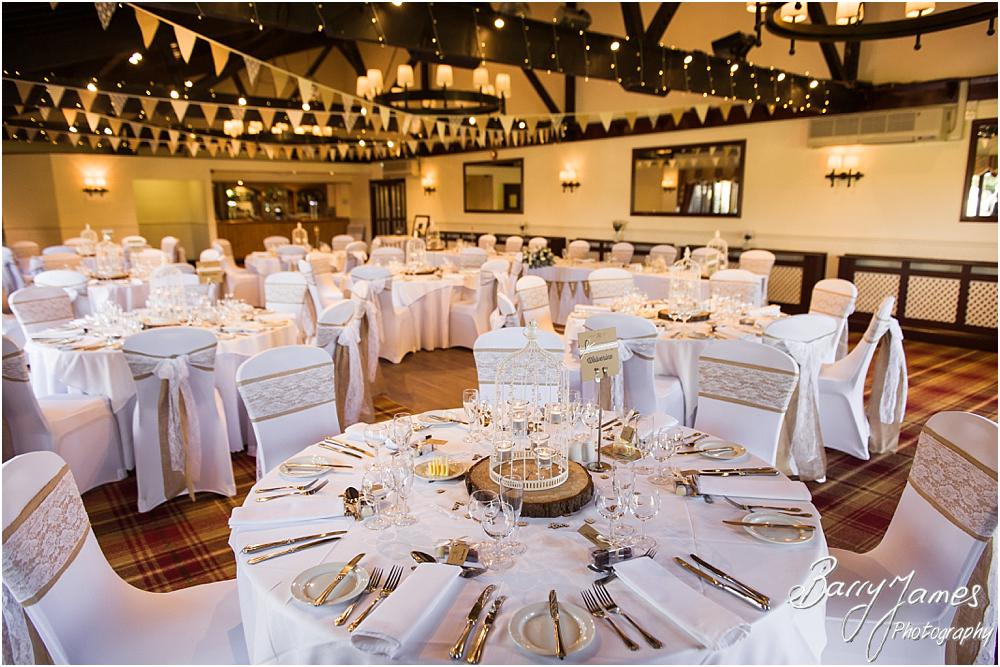 Beautiful rustic styling for the wedding at Oak Farm Hotel in Cannock by Contemporary Cannock Wedding Photographer Barry James