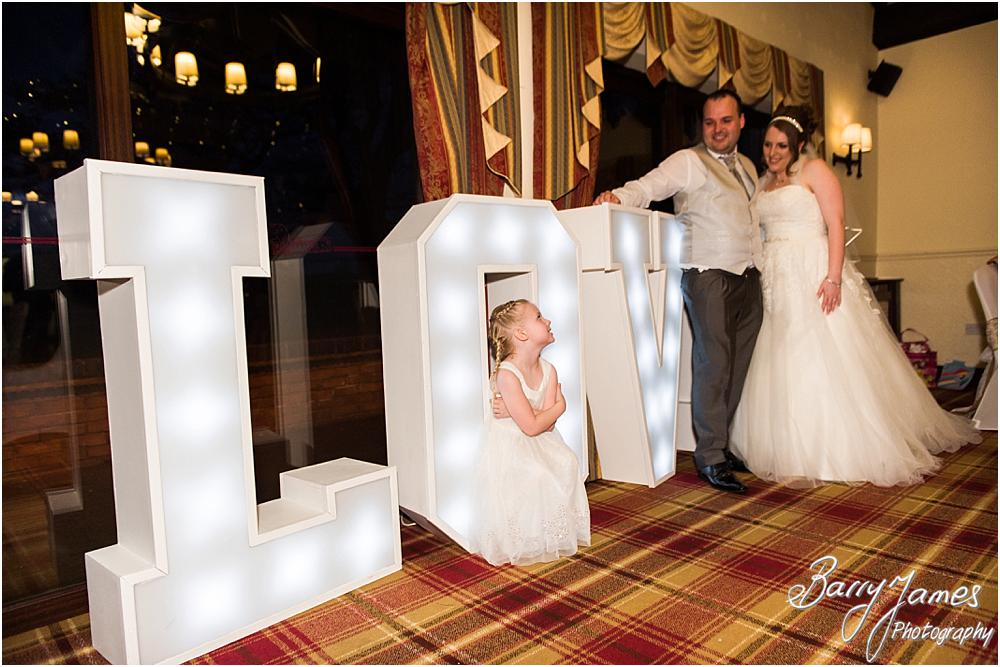 Creative photographs with LOVE letters at Oak Farm Hotel in Cannock by Contemporary Cannock Wedding Photographer Barry James