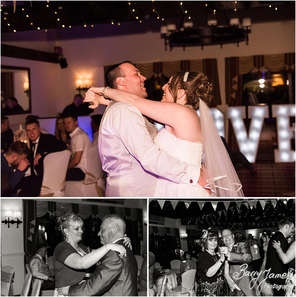 Creative photographs of the first dance at Oak Farm Hotel in Cannock by Contemporary Cannock Wedding Photographer Barry James