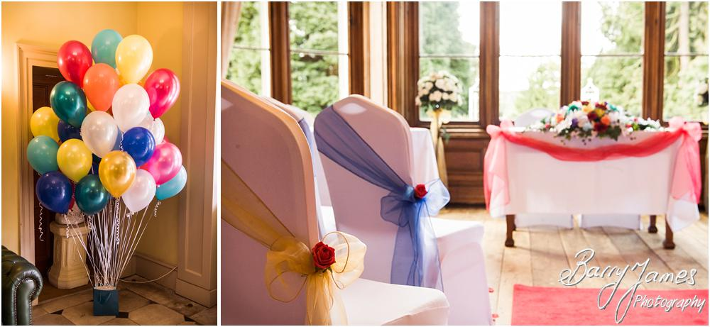 Stunning styling for a spring wedding at Hawkesyard Hall in Rugeley by Rugeley Wedding Photographer Barry James