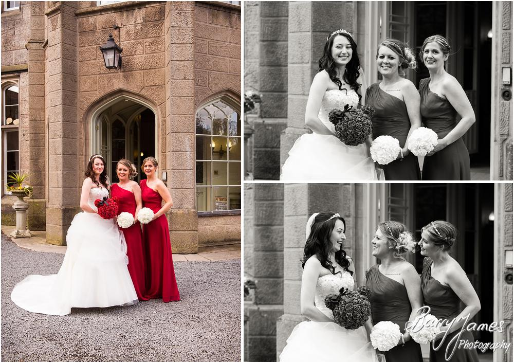Capturing the bridal party at Hawkesyard Hall in Rugeley by Rugeley Wedding Photographer Barry James