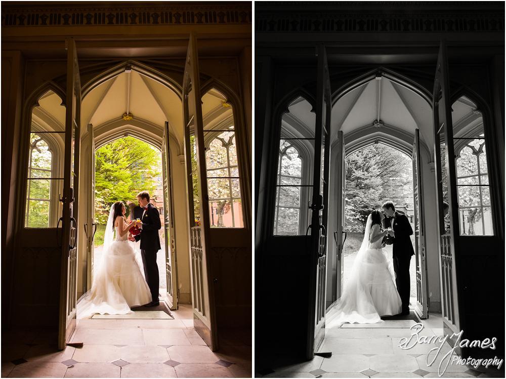 Creative fun wedding photos at Hawkesyard Hall in Rugeley by Rugeley Wedding Photographer Barry James
