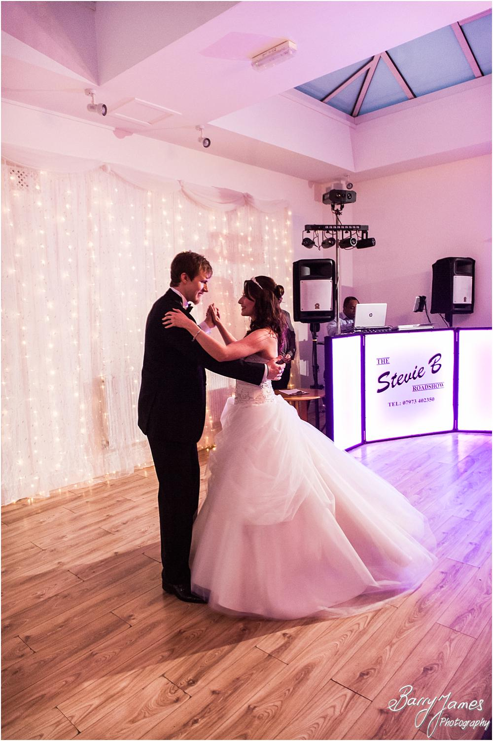 Creative photographs of the first dance at Hawkesyard Hall in Rugeley by Rugeley Wedding Photographer Barry James
