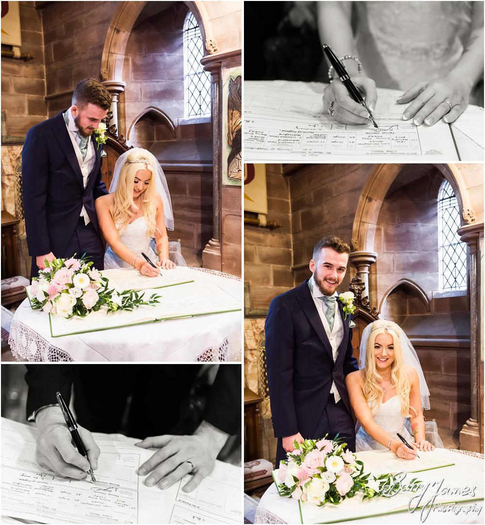 Natural candid photographs capturing the wedding ceremony at St Peters Little Aston in Sutton Coldfield by Sutton Coldfield Wedding Photographer Barry James