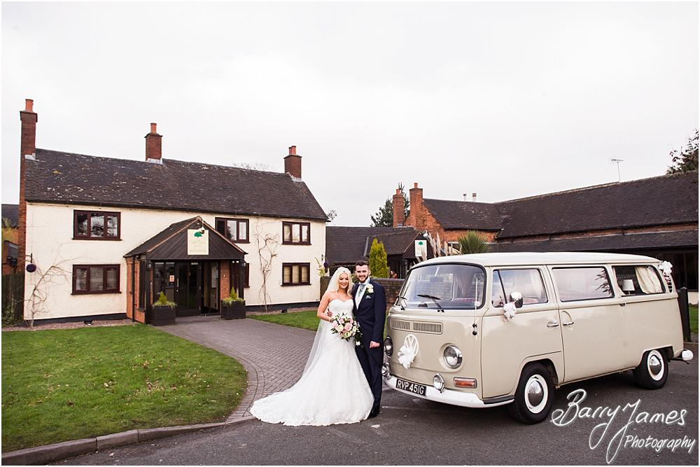 Arriving in style at Oak Farm Hotel in Cannock by CannockWedding Photographer Barry James