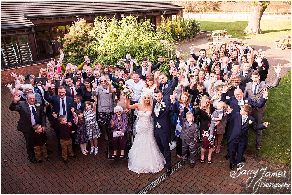 Relaxed wedding party group photographs at Oak Farm Hotel in Cannock by CannockWedding Photographer Barry James