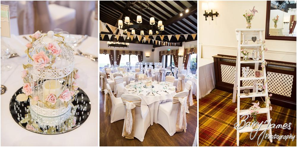 Stunning decoration and styling for the wedding breakfast at Oak Farm Hotel in Cannock by CannockWedding Photographer Barry James