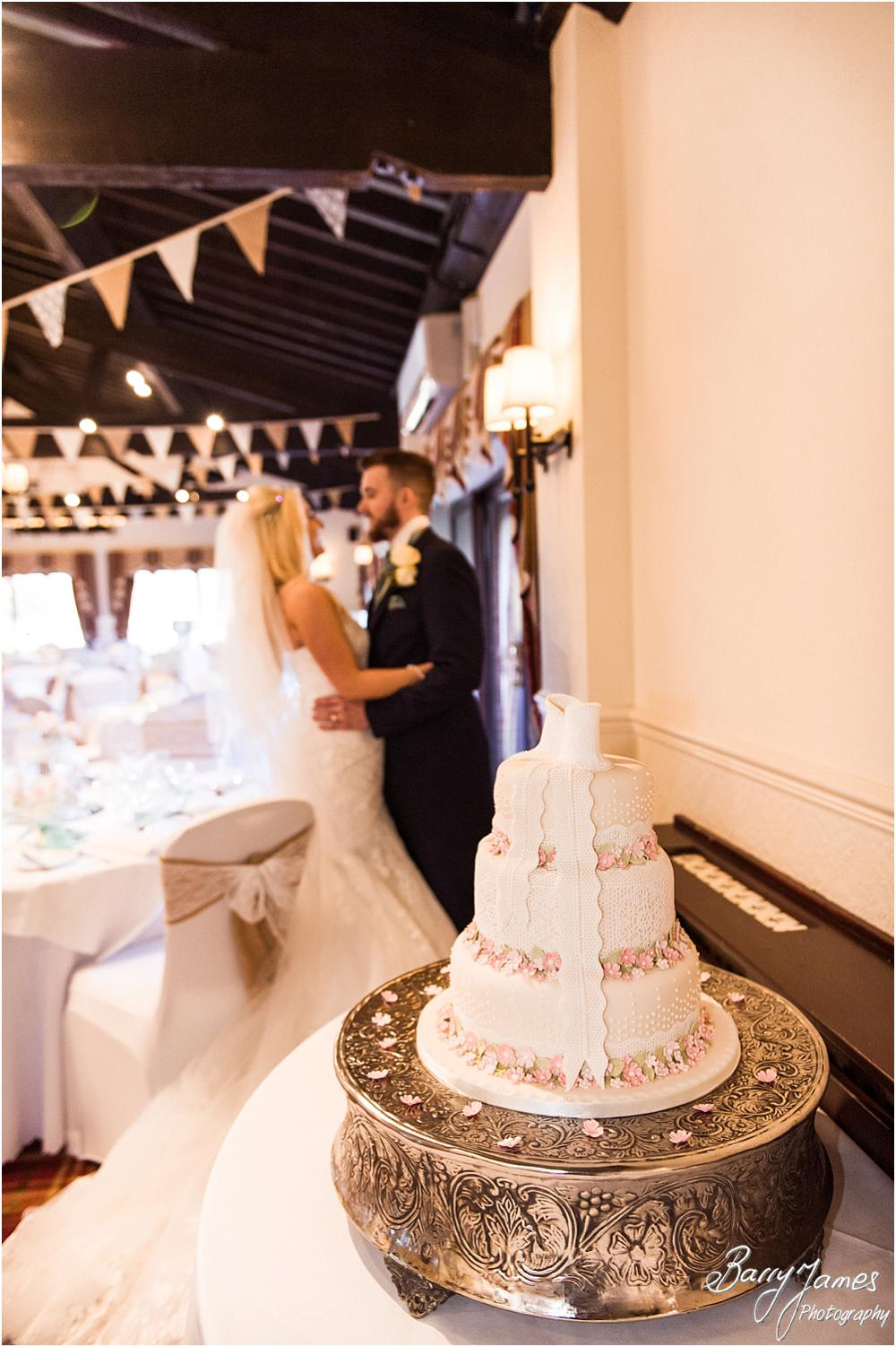 Beautiful wedding cake designed to match the theme of the wedding perfectly at Oak Farm Hotel in Cannock by CannockWedding Photographer Barry James