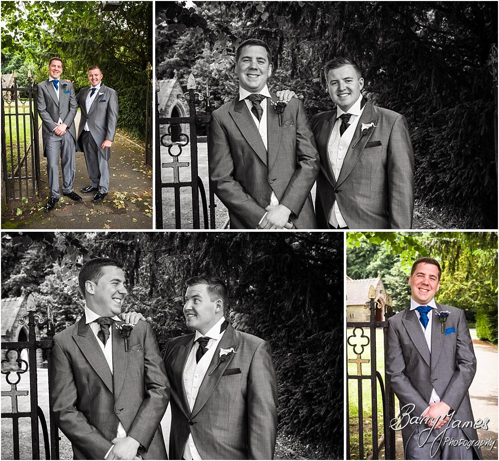 Relaxed portraits of the groomsmen arrival at St Marks in Great Wyrley by Penkridge Wedding Photographer Barry James