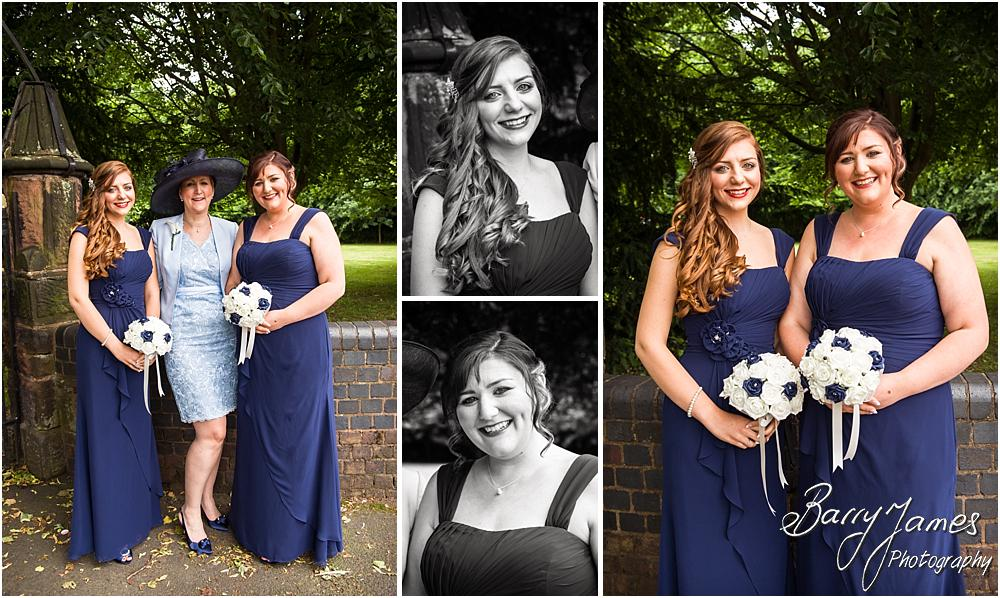 Relaxed portraits of the bridesmaids at St Marks in Great Wyrley by Penkridge Wedding Photographer Barry James