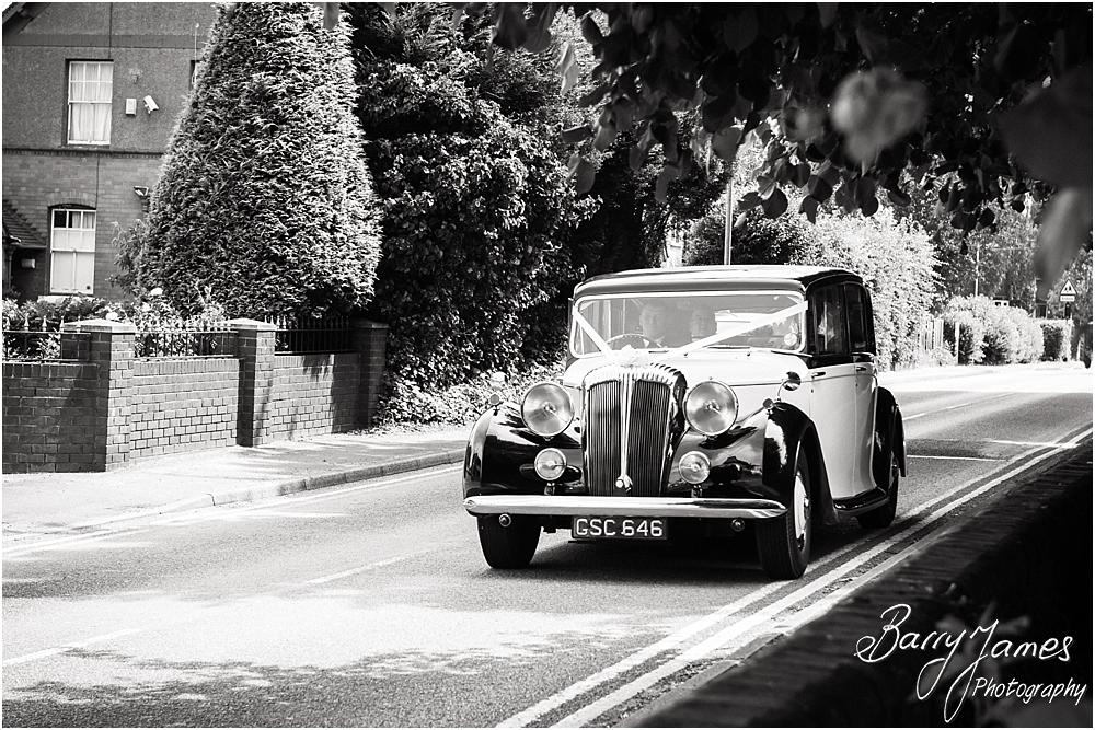 Capturing the arrival of the beautiful bride at St Marks in Great Wyrley by Penkridge Wedding Photographer Barry James
