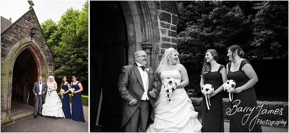 Creative contemporary photographs of the bridal party ahead of the ceremony at St Marks in Great Wyrley by Penkridge Wedding Photographer Barry James