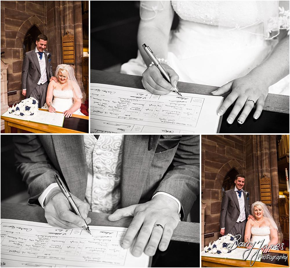 Unobtrusive photographs of the wedding ceremony at St Marks in Great Wyrley by Penkridge Wedding Photographer Barry James