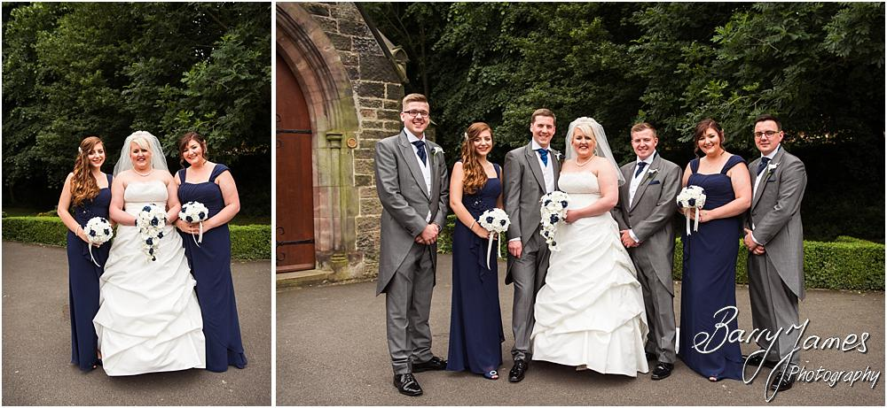 Relaxed family group photographs after the ceremony at St Marks in Great Wyrley by Penkridge Wedding Photographer Barry James