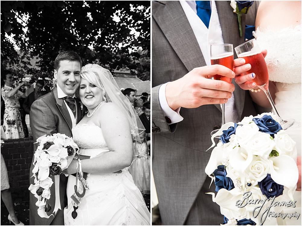 Ceonfetti Fun at St Marks in Great Wyrley by Penkridge Wedding Photographer Barry James