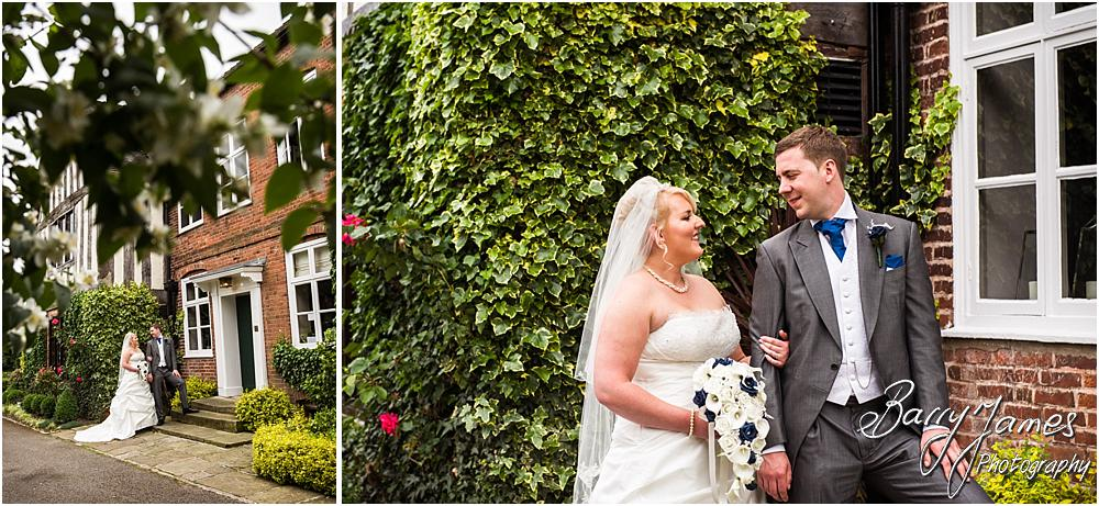 Contemporary relaxed portraits around the beautiful gardens of The Moat House in Acton Trussell by Penkridge Wedding Photographer Barry James