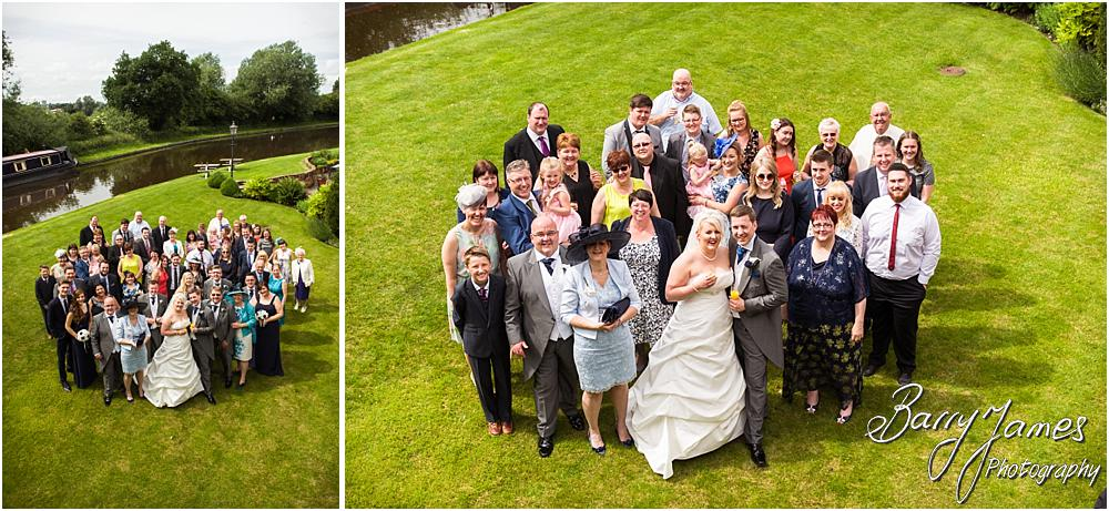 Family group photographs on the canalside at The Moat House in Acton Trussell by Penkridge Wedding Photographer Barry James