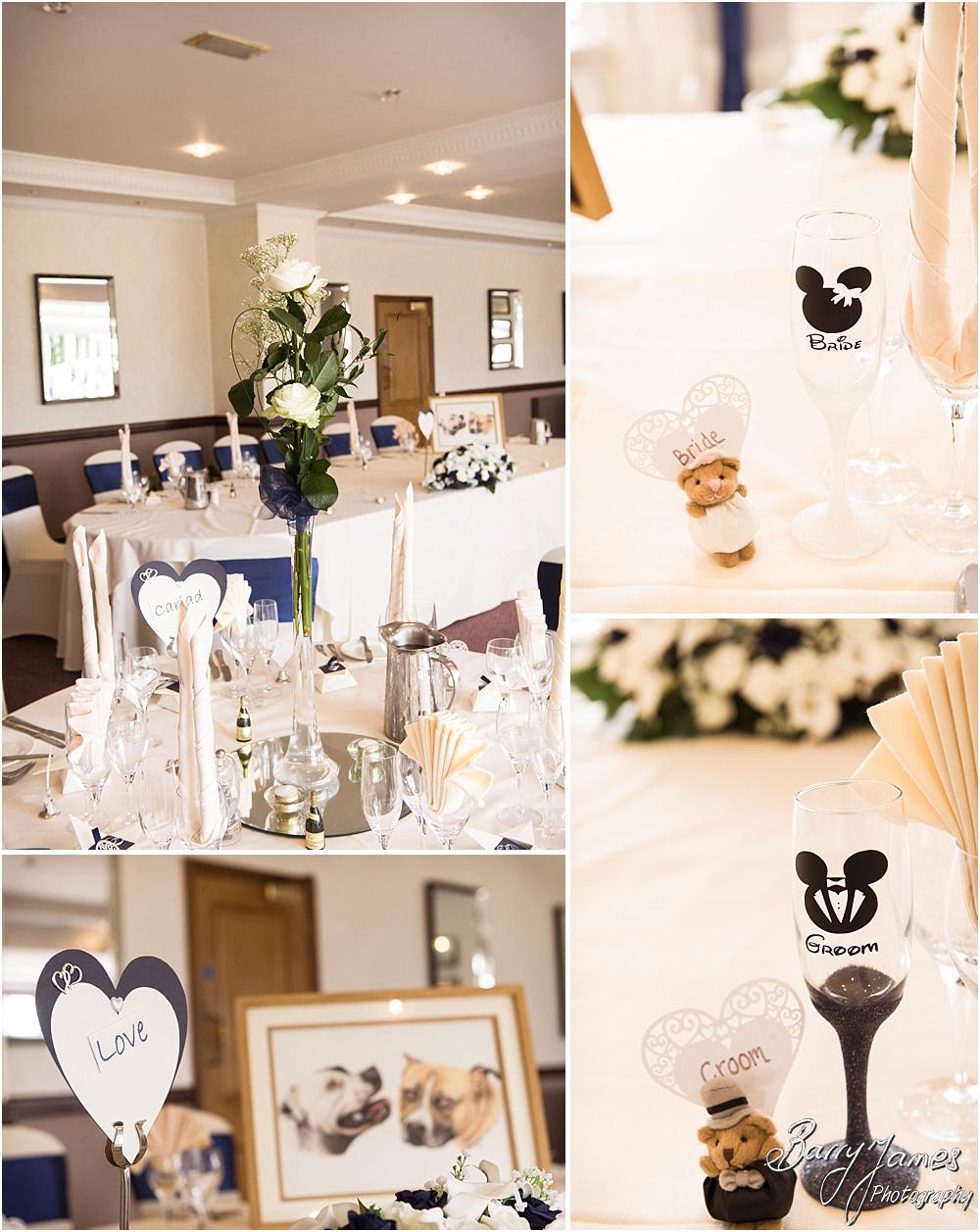 Beautiful room decoration from Design Elegance at The Moat House in Acton Trussell by Penkridge Wedding Photographer Barry James