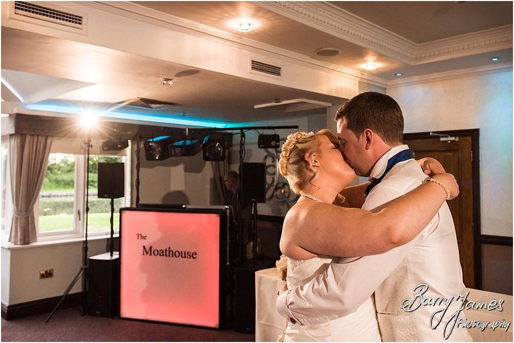 Creative lighting for beautiful photographs of the first dance at The Moat House in Acton Trussell by Penkridge Wedding Photographer Barry James