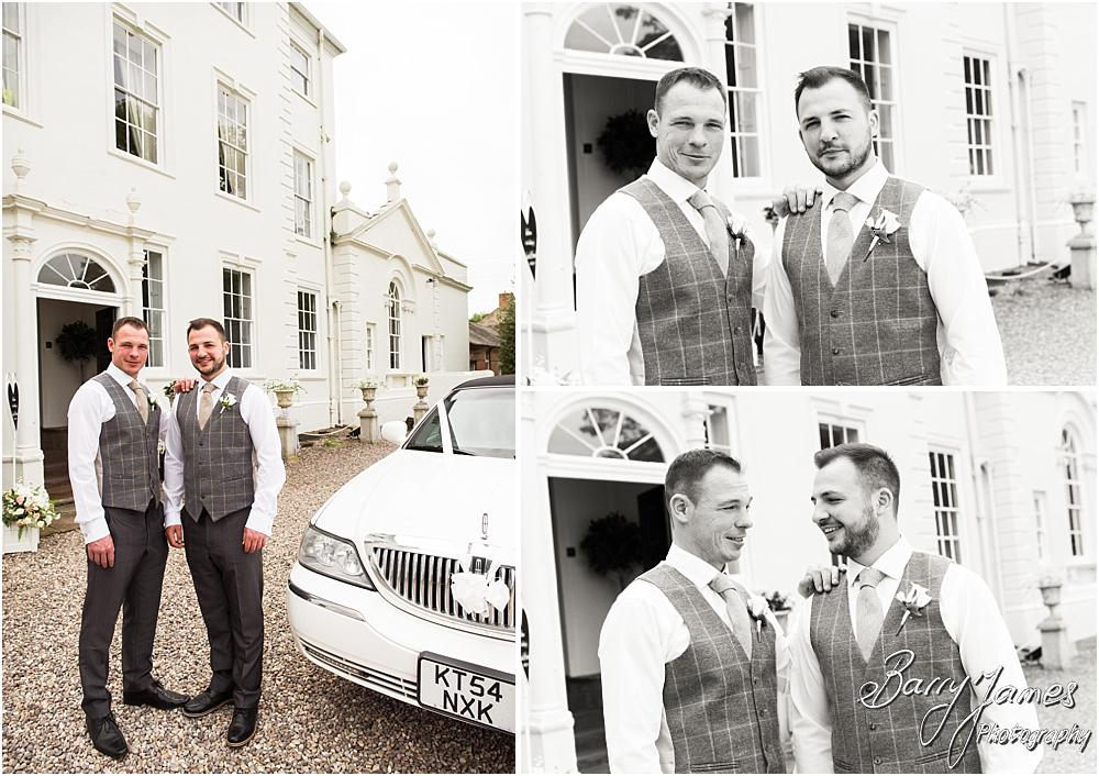 Creative portraits of the groomsmen at Somerford Hall in Brewood by Wolverhampton Wedding Photographer Barry James