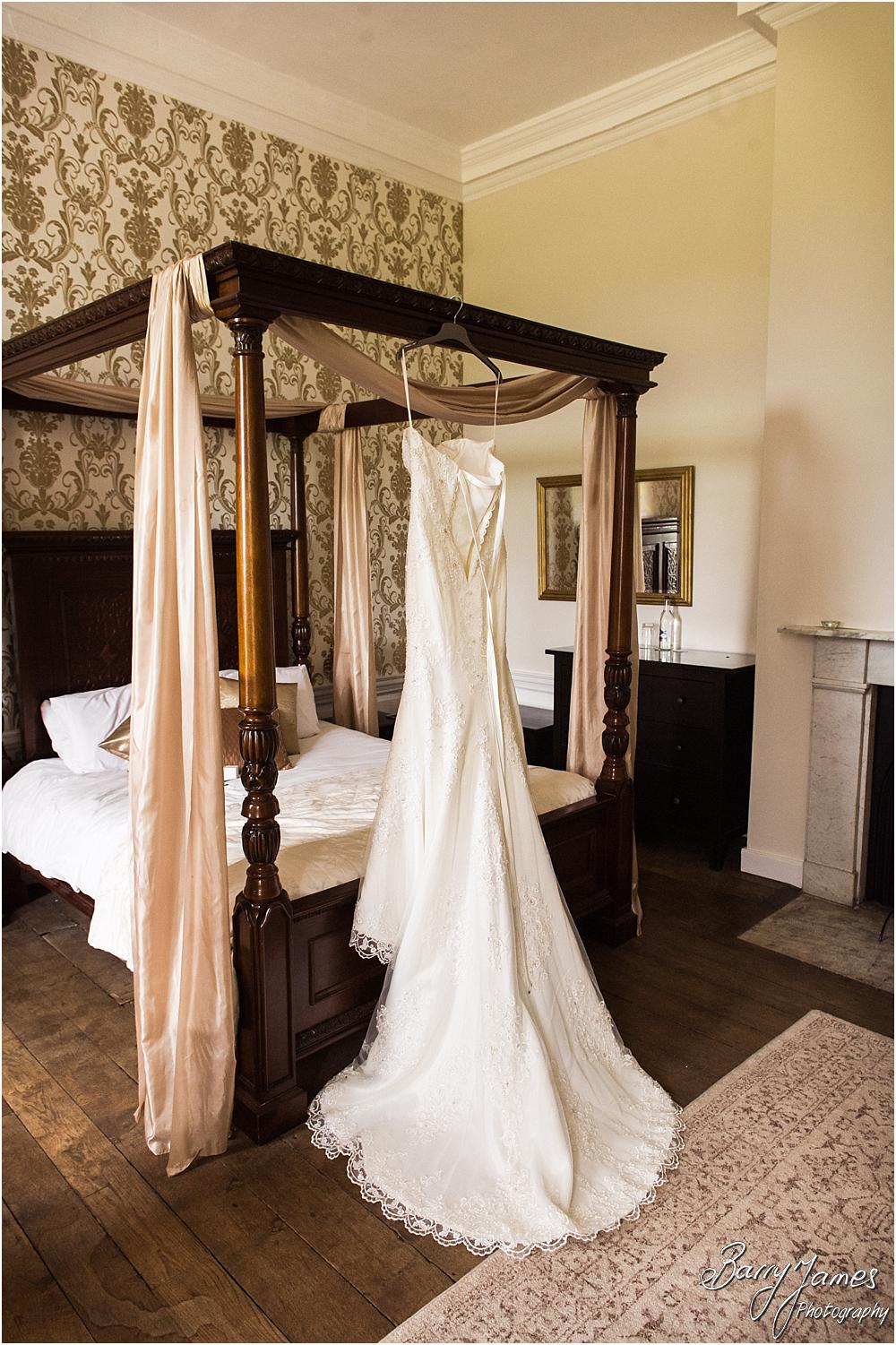 Stunning bridal gown at Somerford Hall in Brewood by Wolverhampton Wedding Photographer Barry James
