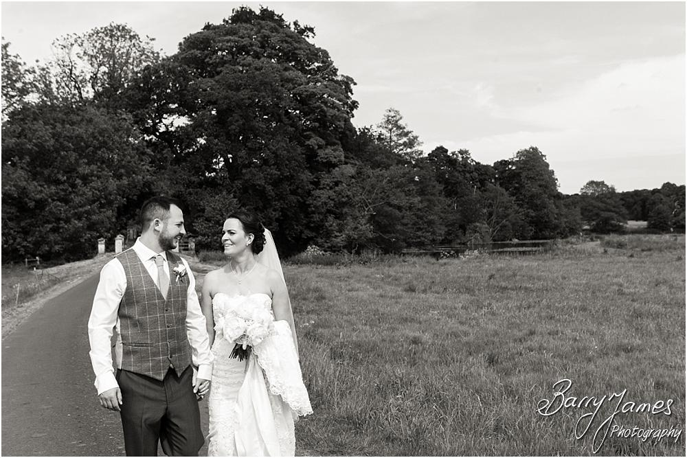 Relaxed elegant portraits on the country lanes at Somerford Hall in Brewood by Wolverhampton Wedding Photographer Barry James
