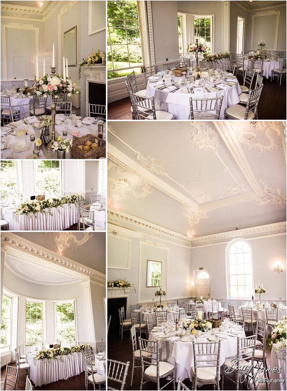 Beautiful styling for the wedding breakfast at Somerford Hall in Brewood by Wolverhampton Wedding Photographer Barry James