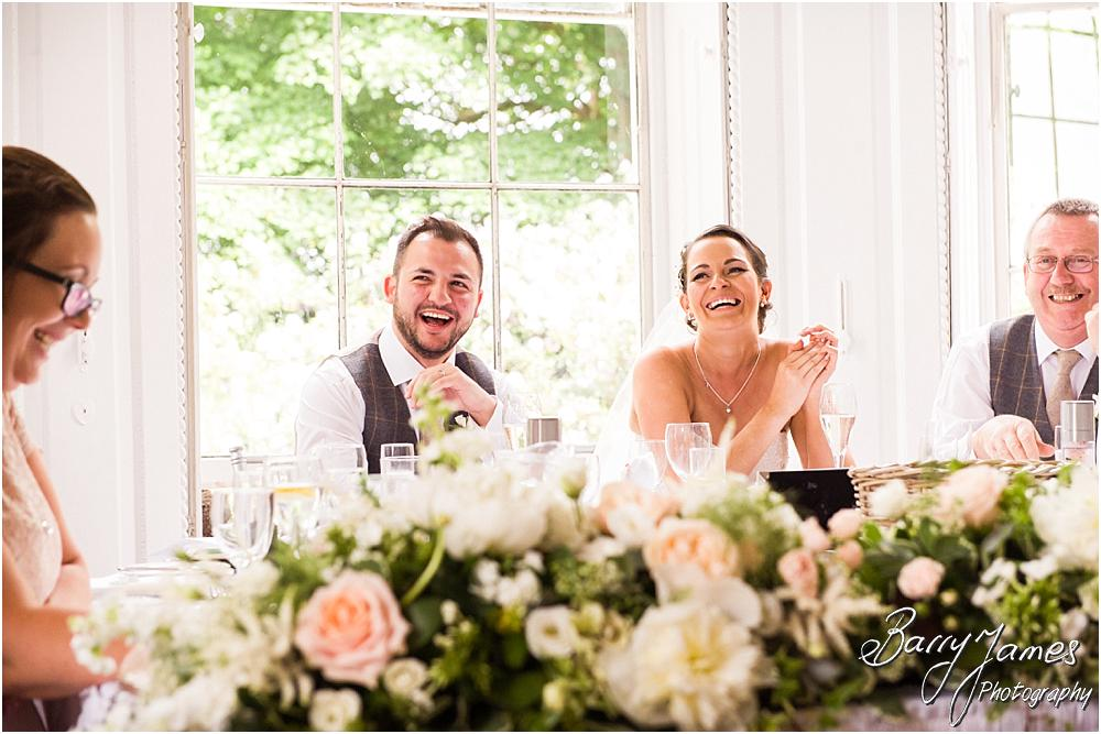 Creative candid photographs capturing the speeches and wonderful storytelling reactions at Somerford Hall in Brewood by Wolverhampton Wedding Photographer Barry James