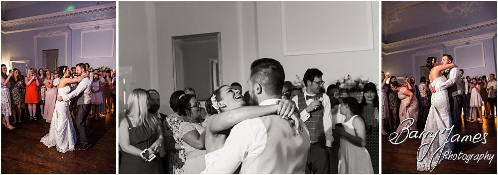 Creative photographs of the wonderful first dance at Somerford Hall in Brewood by Wolverhampton Wedding Photographer Barry James