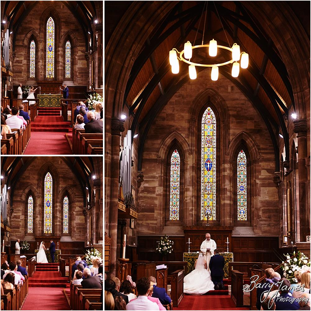 Unobtrusive photographs of the beautiful ceremony at St Marks Church in Great Wyrley by Cannock Wedding Photographer Barry James