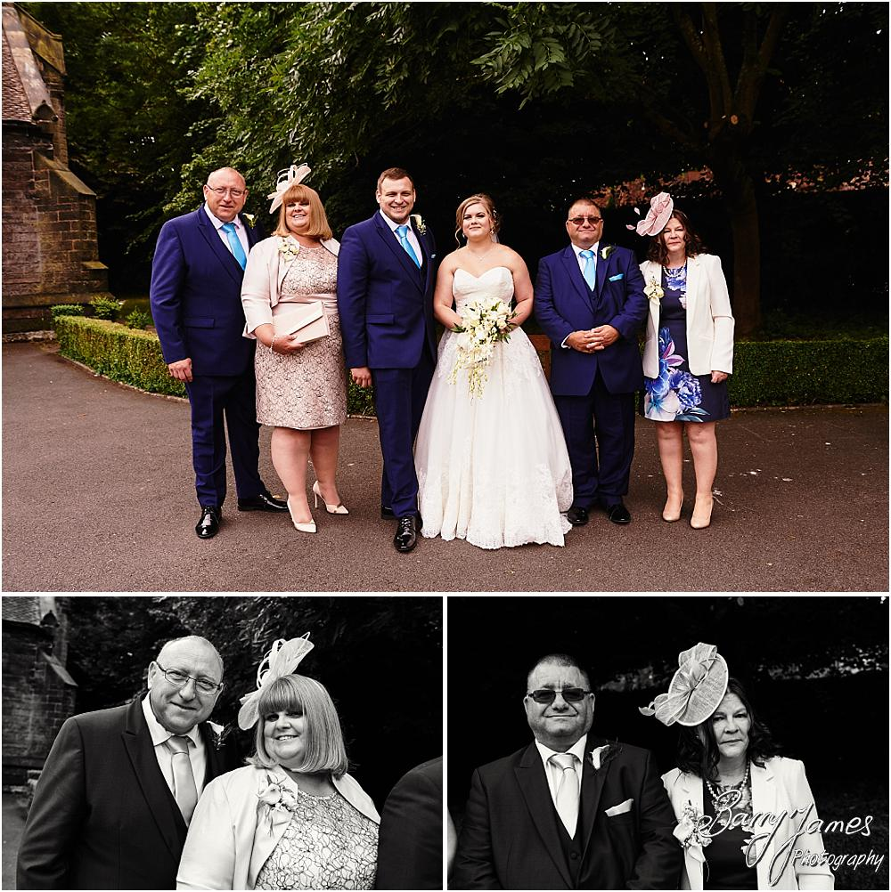 Relaxed group photographs of the family at St Marks Church in Great Wyrley by Cannock Wedding Photographer Barry James